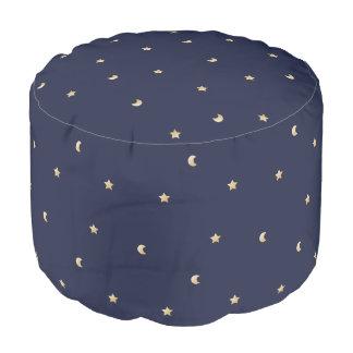 Starry Night Pattern Pouf