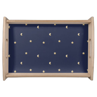 Starry Night Pattern Serving Tray