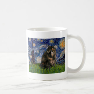 Starry Night - Persian Calico cat Coffee Mug