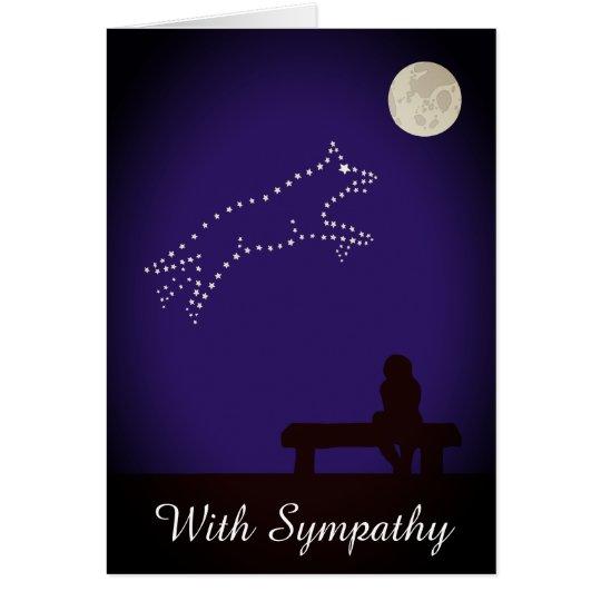 Starry Night Pet Alsatian Dog Sympathy Card