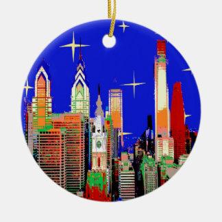 Starry Night Philadelphia Ceramic Ornament