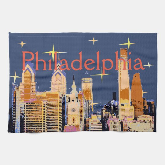 Starry Night Philadelphia Kitchen Towel