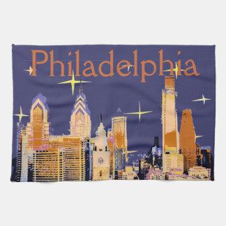 Starry Night Philadelphia Kitchen Towel