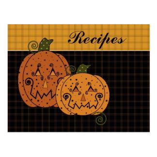 Starry Night Pumpkins Recipe Card