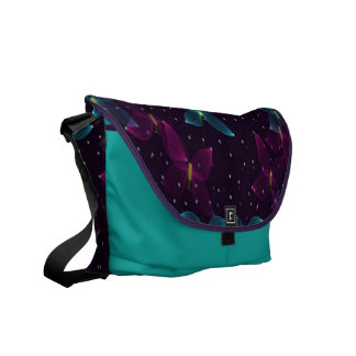 Starry Night Purple Blue Butterfly Rickshaw Courie Courier Bags
