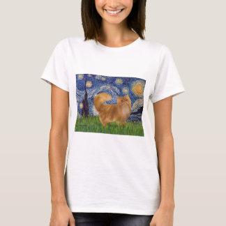 Starry Night - Red Persian cat T-Shirt