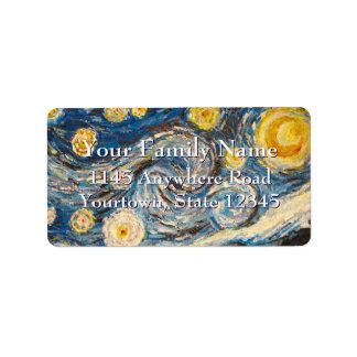 Starry Night repaint after Vincent Van Gogh Label