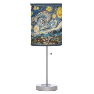 Starry Night repainted after Vincent Van Gogh Table Lamp