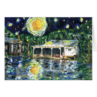 Starry Night River Camp Card