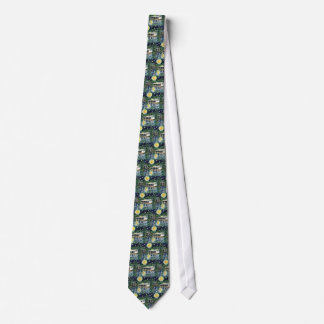 Starry Night River Camp Tie