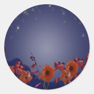 Starry Night Round Sticker