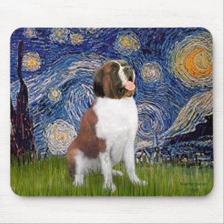Starry Night- Saint Bernard Mouse Pad