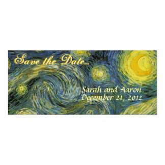 "Starry Night Save the Date 4"" X 9.25"" Invitation Card"