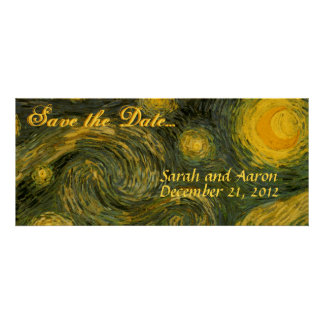 Starry Night Save the Date Invites