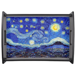 Starry Night Serving Tray 2 sizes 2 Colors