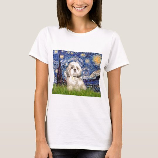Starry Night - Shih Tzu (Y) T-Shirt