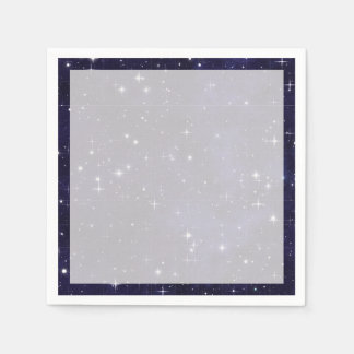 Starry Night Sky Grid Paper Napkin