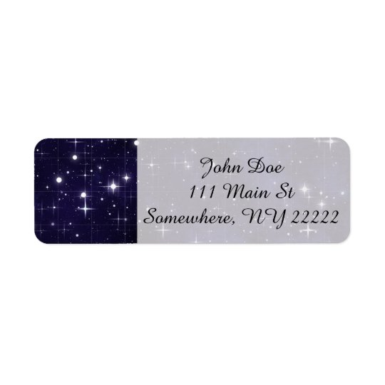 Starry Night Sky Grid Return Address Label