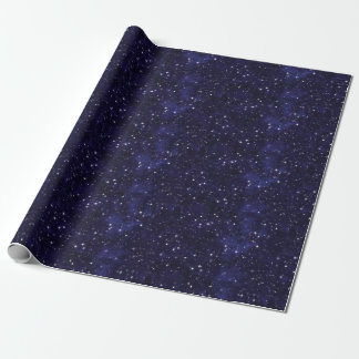 Starry Night Sky Grid Wrapping Paper