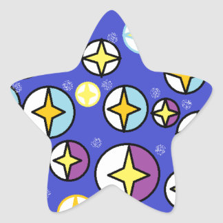 Starry Night Sky Orbs Star Sticker