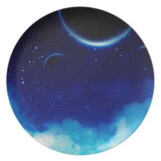Starry Night Sky Plate