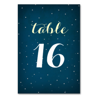 Starry Night Sky Table Number Card