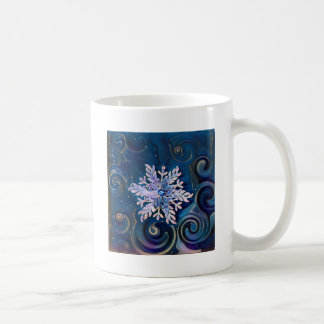 Starry Night Snowflake Coffee Mug