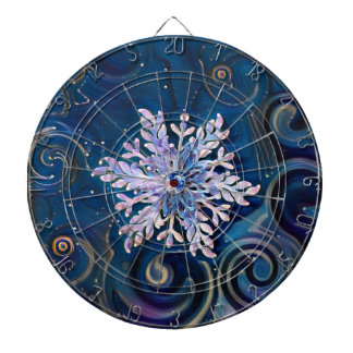 Starry Night Snowflake Dart Board