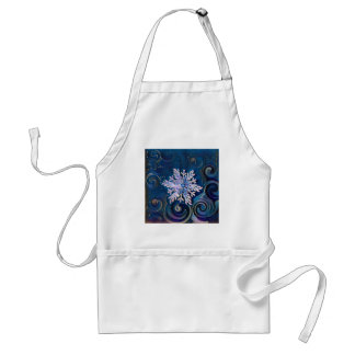 Starry Night Snowflake Standard Apron