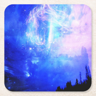 Starry Night Square Paper Coaster