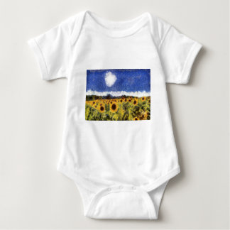 Starry Night Sunflowers Baby Bodysuit