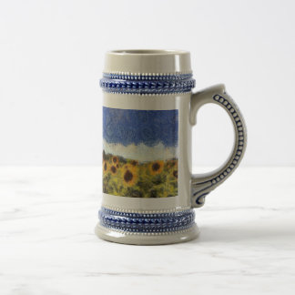Starry Night Sunflowers Beer Stein