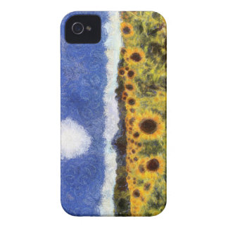 Starry Night Sunflowers iPhone 4 Case-Mate Cases