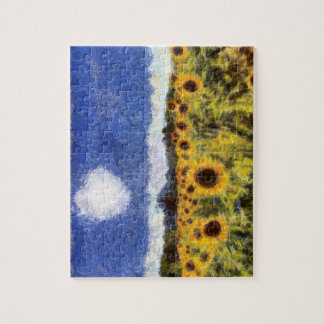 Starry Night Sunflowers Jigsaw Puzzle
