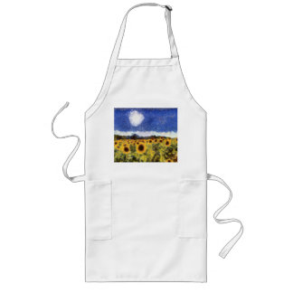 Starry Night Sunflowers Long Apron