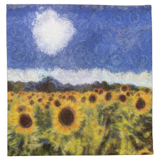 Starry Night Sunflowers Napkin