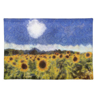 Starry Night Sunflowers Placemat