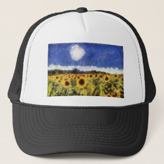 Starry Night Sunflowers Trucker Hat