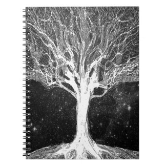 Starry Night Tree of Life Spiral Notebooks