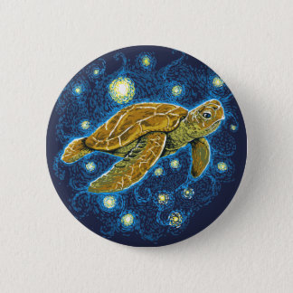 Starry Night Turtle button