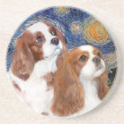 Starry Night - Two Blenheim Cavaliers Coaster