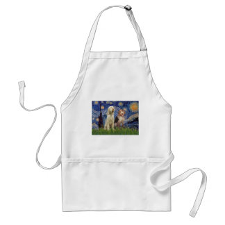 Starry Night - Two Italian Spinones Standard Apron