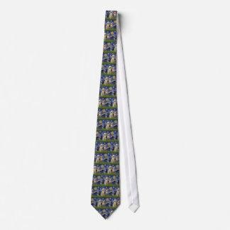 Starry Night - Two Italian Spinones Tie