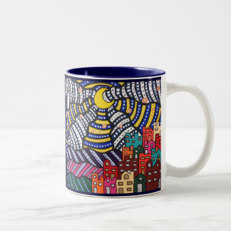 Starry night Two-Tone coffee mug