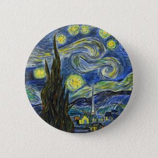 Starry Night, Van Gogh 2 Inch Round Button