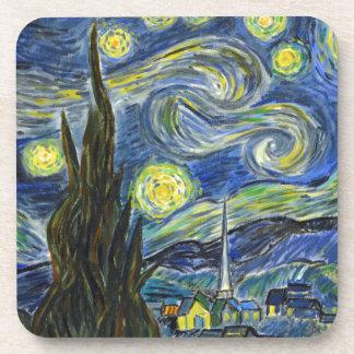 Starry Night, Van Gogh Beverage Coaster