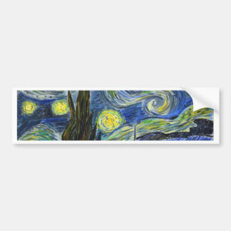 Starry Night, Van Gogh Bumper Sticker
