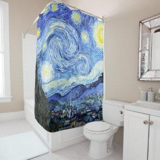 Starry Night Van Gogh Impressionism Shower Curtain