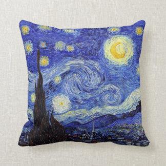 Starry Night Van Gogh Inspired Pillows