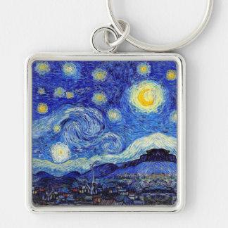 Starry Night Van Gogh Inspired Premium Keychain